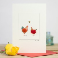 Chicken Card - Hen & Rooster