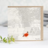 Hen & Henhouse Photographic Card