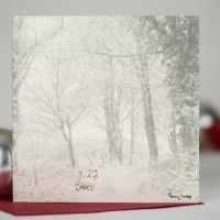 Westie in the snow Christmas Card