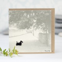 Scottie Photographic Greeting Card