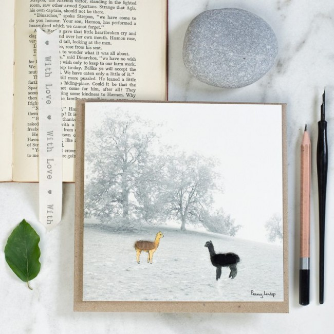 Alpacas & Trees Card