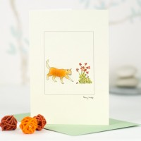 Ginger cat card