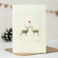 Deer in Love Card