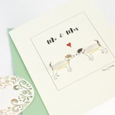 Jack Russell terrier card for a couple, fluffy Jack Russells for Mr & Mrs