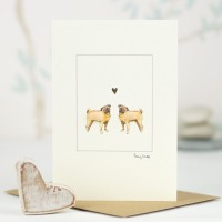Pug Dogs - Greeting Card