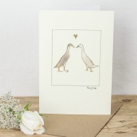 Indian Runner Ducks in Love Card