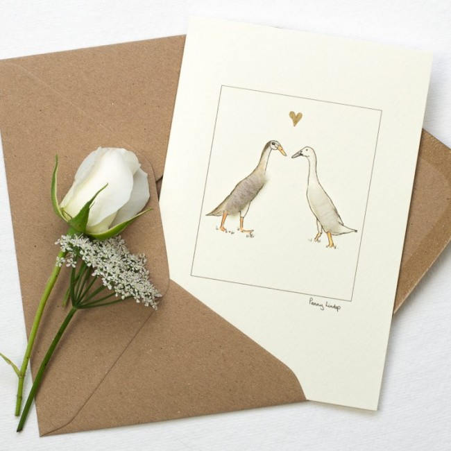 Duck Card - Indian Runner Ducks in Love