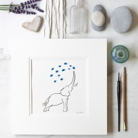 Elephant squirting water print