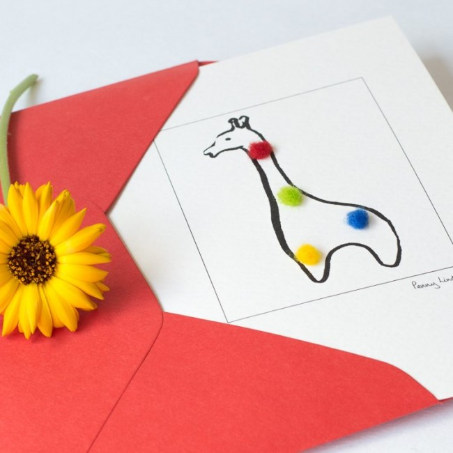 Nursery giraffe card