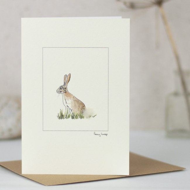 Hare & Grass Card