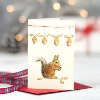 Squirrel Christmas Gift Cards - Pack of 6
