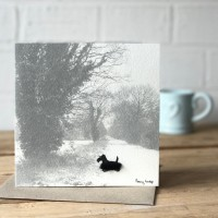 Scottie Dog - Photographic Greeting Card
