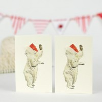 Polar Bear Christmas Gift Cards - Pack of 4