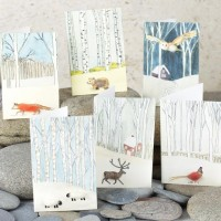Scandi Woodland Christmas Gift Cards - Pack of 8