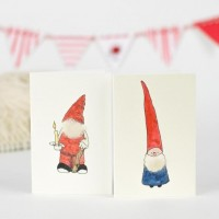 Nisse & Gnome Christmas Gift Cards - Pack of 6