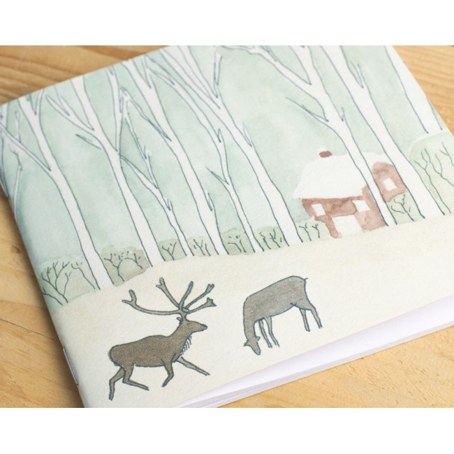 Winter Woodland Animal Notebook - Reindeer