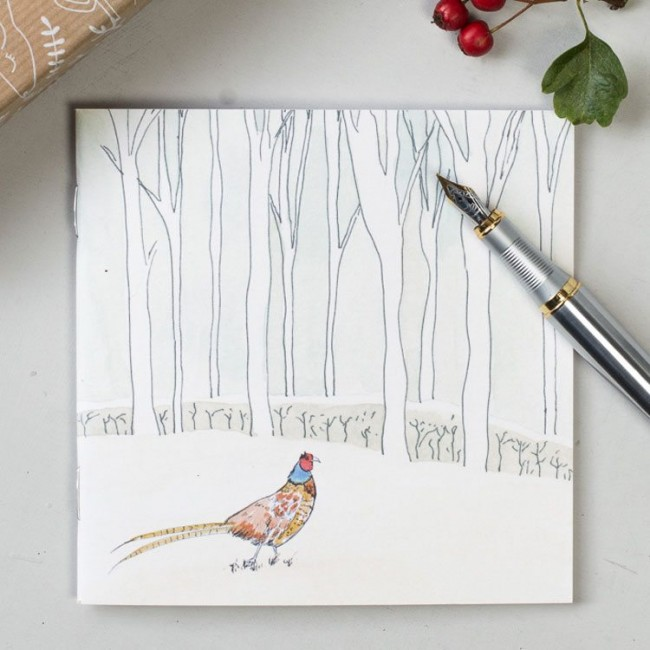 Winter Woodland Animal Notebook - Pheasant
