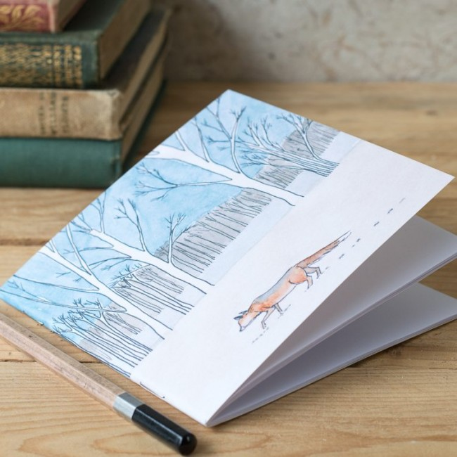 Winter Woodland Animal Notebook - Fox