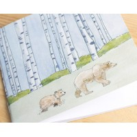 Winter Woodland Animal Notebook - Bears