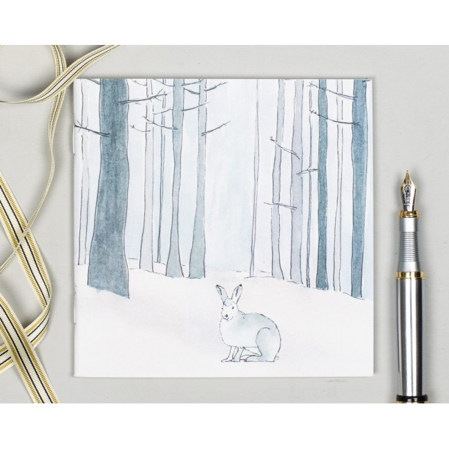 Winter Woodland Animal Notebook - Hare