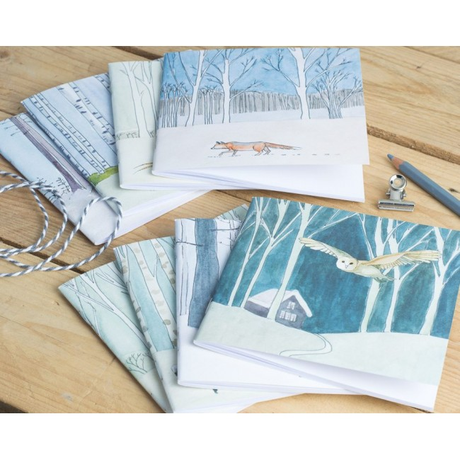 8 Winter Woodland Animal Notebooks