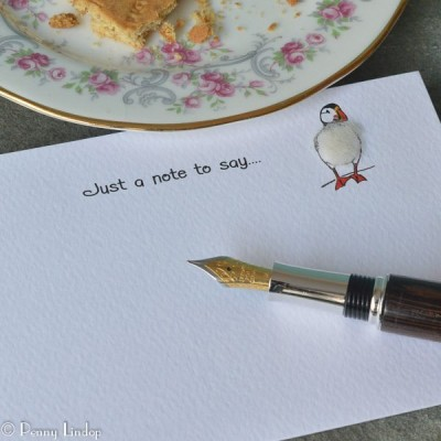 Set of 10 Notecards - Puffin
