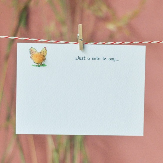 Set of 10 Notecards - Buff Orpington Hen