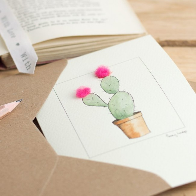 Bunny Ear Cactus Greeting Card