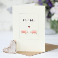 Pig Mr & Mrs Card
