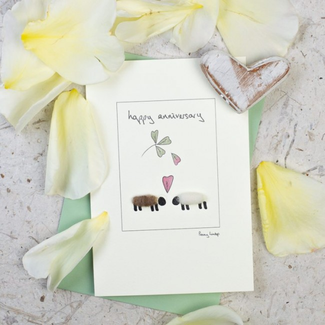 Sheep Anniversary Greeting Card
