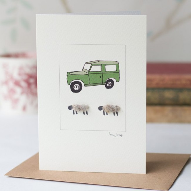 Sheep Card - Land Rover