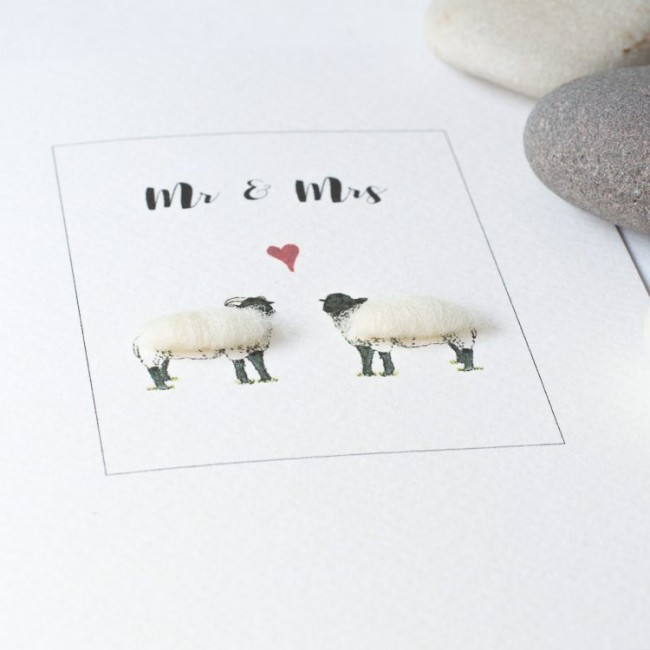 Sheep Mr & Mrs Card
