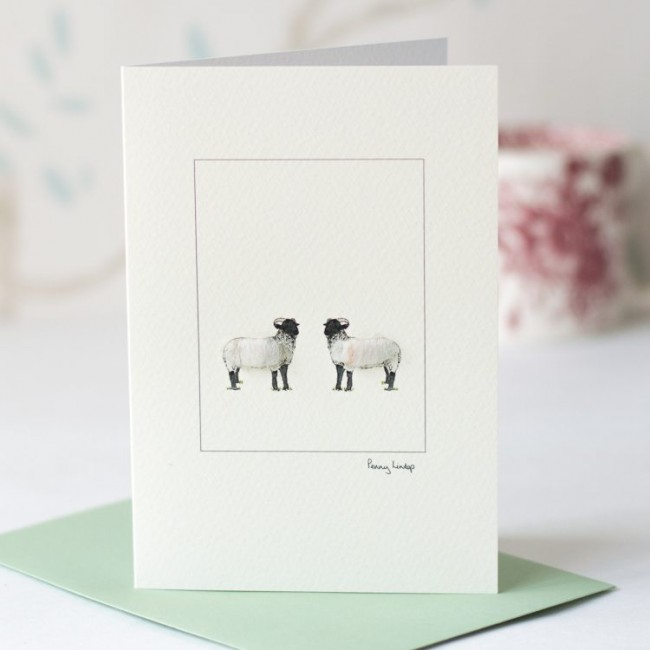 Norfolk Horn Sheep Card