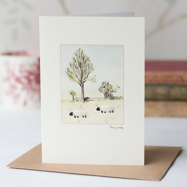 Sheep willow tree card 355 penny lindop designs beautiful sheep willow tree card m4hsunfo