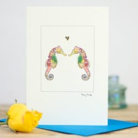 Seahorses & Heart Card