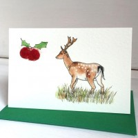 Fallow Deer Christmas Gift Cards - Pack of 4