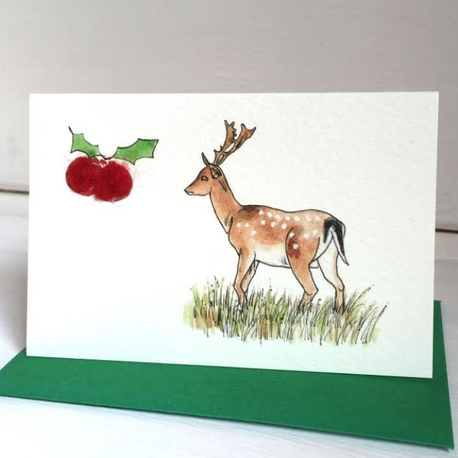 Fallow Deer Christmas Gift Cards - Pack of 6