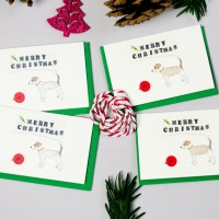 Jack Russell Christmas Gift Cards - Pack of 4