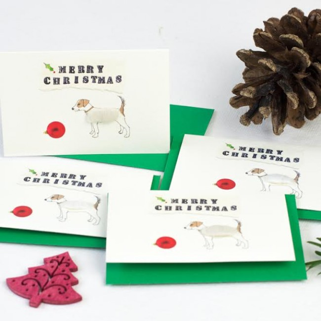 Jack Russell Christmas Gift Cards - Pack of 6