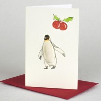 Penguin Christmas Gift Cards, Pack of 4