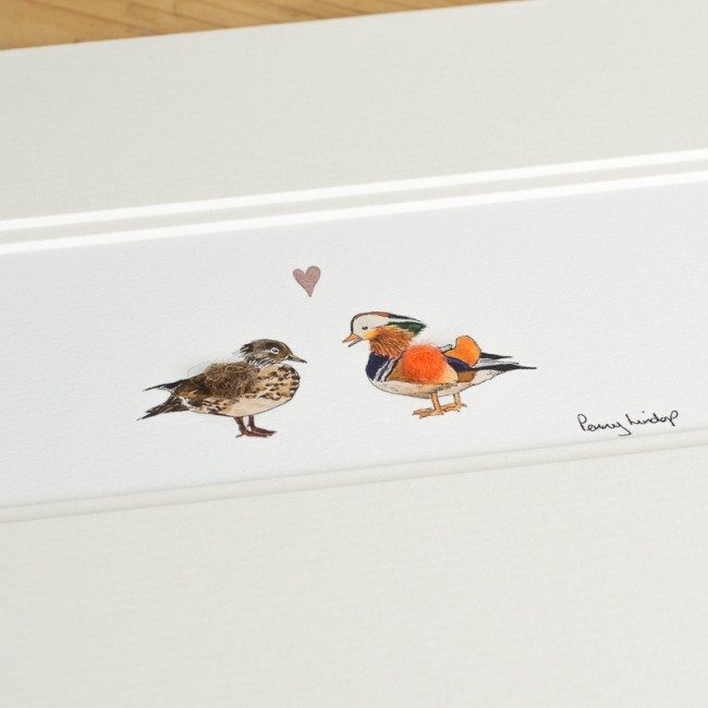Duck Print - Mandarin Ducks