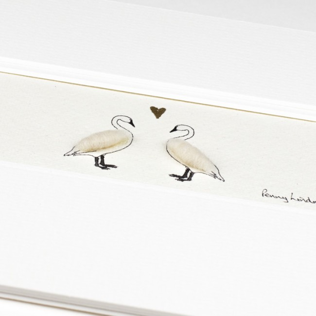 Swans in Love Print