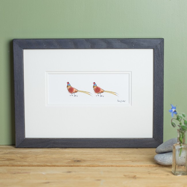 Pheasants in Love Print