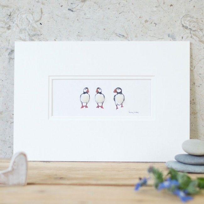 Puffins Print - 3 in a row