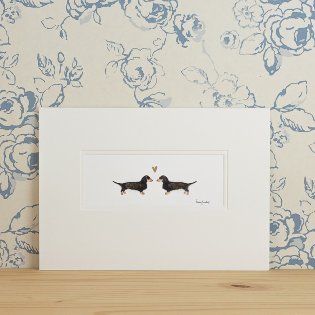 Dachshunds in Love Print