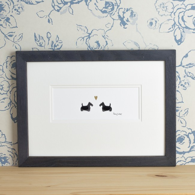 Scottie Dogs in Love Print