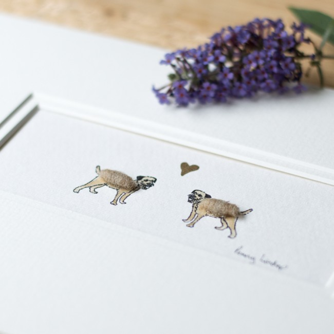 Border terriers in love print