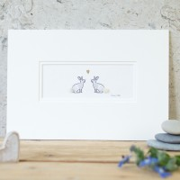 Rabbits in Love Print