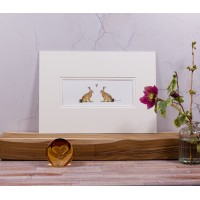 Hares in Love Print
