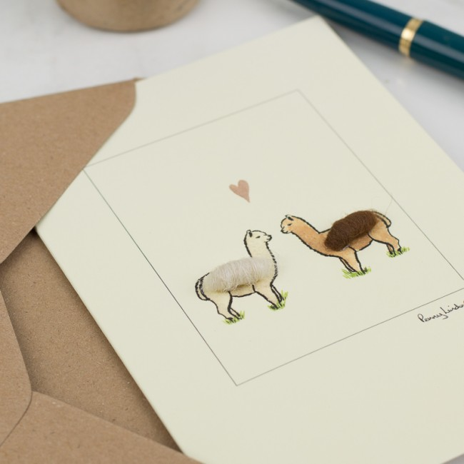 Alpacas in Love Wedding Card